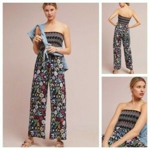 New Anthropologie Crisfield Jumpsuit Sz S Black